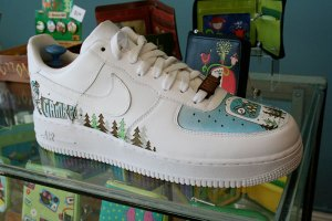 Gama-Go painted Air Force Ones. From Thrillist.