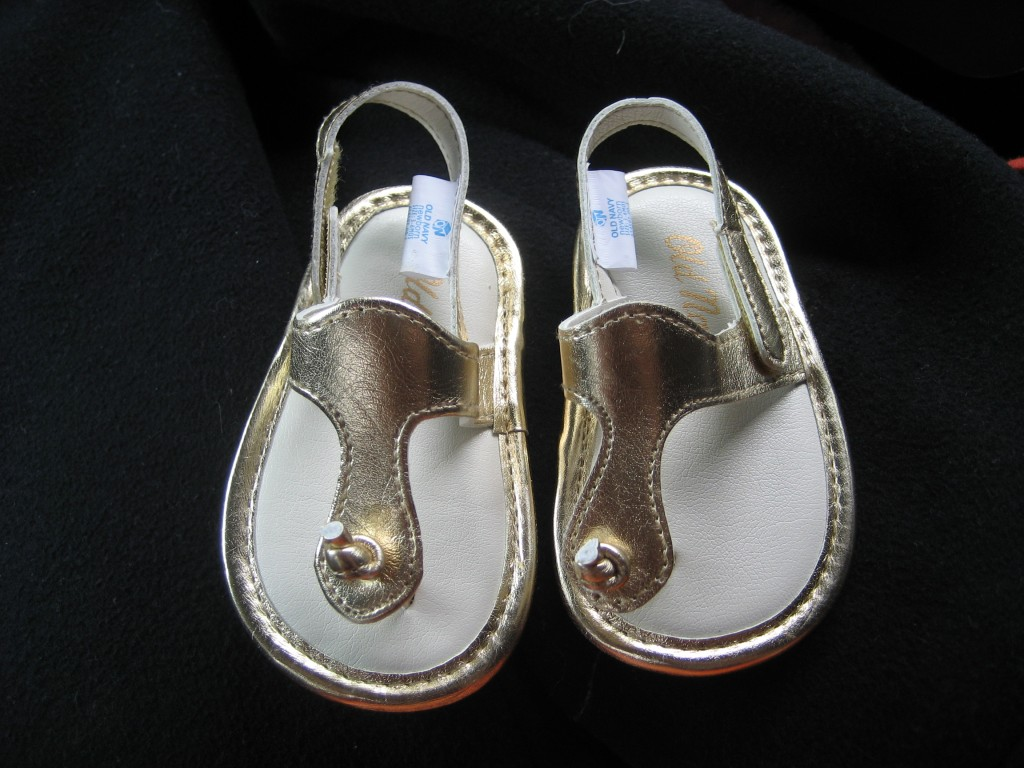 My friend's baby's shoes. They're from Old Navy.