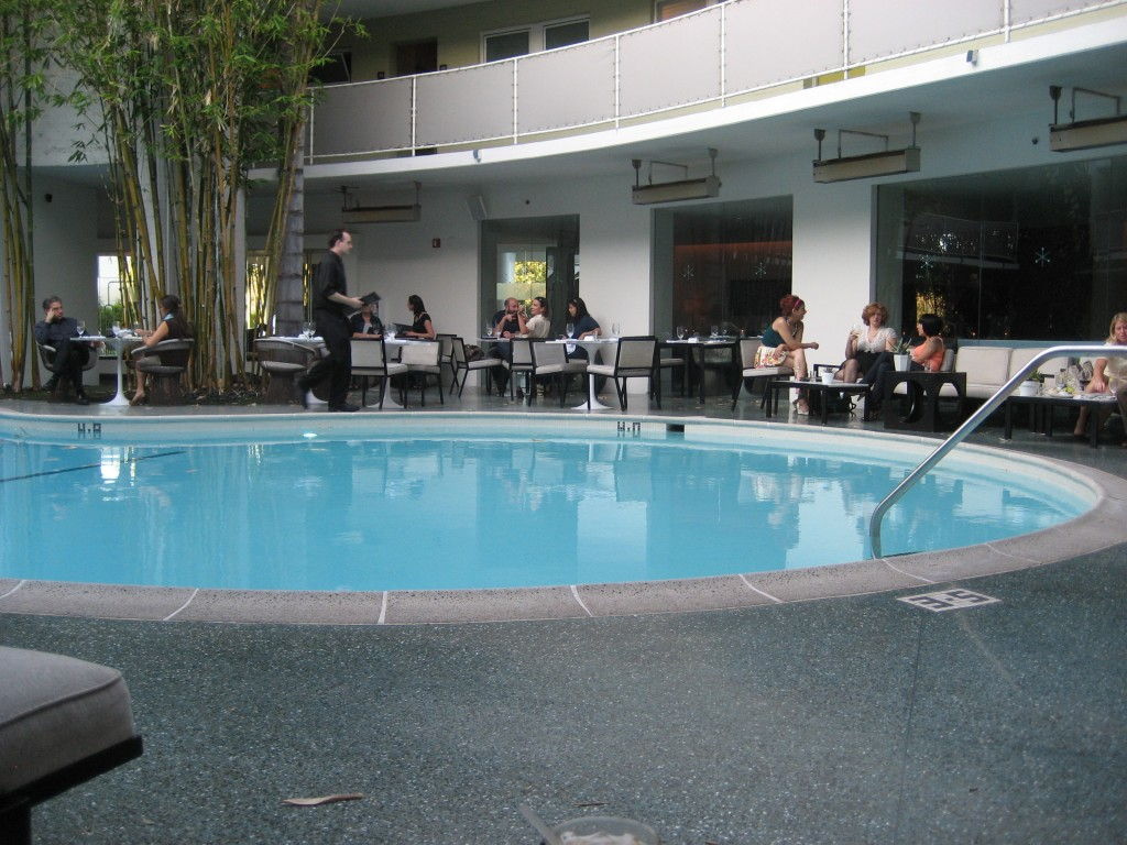 The pool at the Avalon Hotel